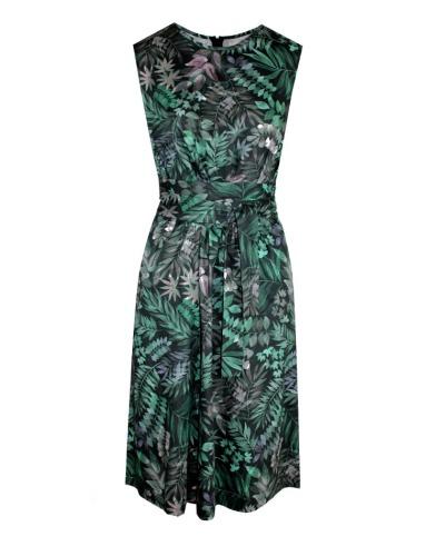 KLEID MIT TAILLENGÜRTEL Kleid mit ausgestelltem