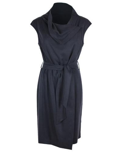 ASYMMETRISCHES KLEID drapiertes Kleid aus Tencel