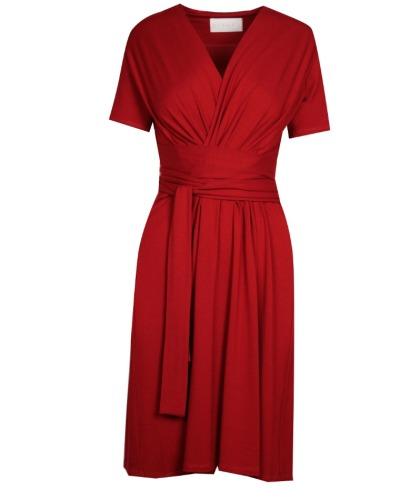 KLEID IN WICKELOPTIK Kleid mit V-Ausschnitt