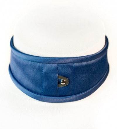 Korsetthalsband Dalia - Satin dunkelblau