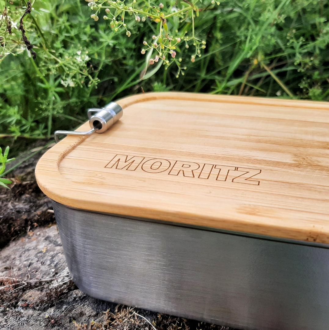 Bambus Lunchbox personalisiert minimalitisch 3