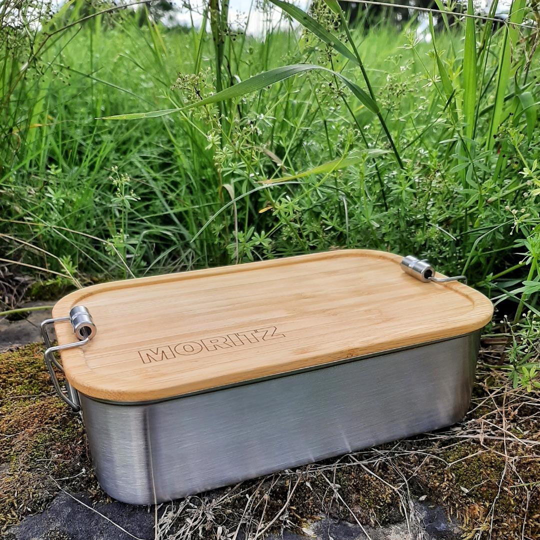 Bambus Lunchbox personalisiert minimalitisch 4