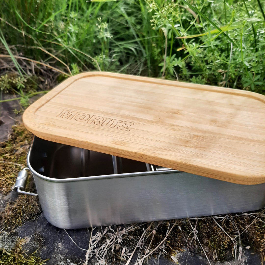 Bambus Lunchbox personalisiert minimalitisch 5