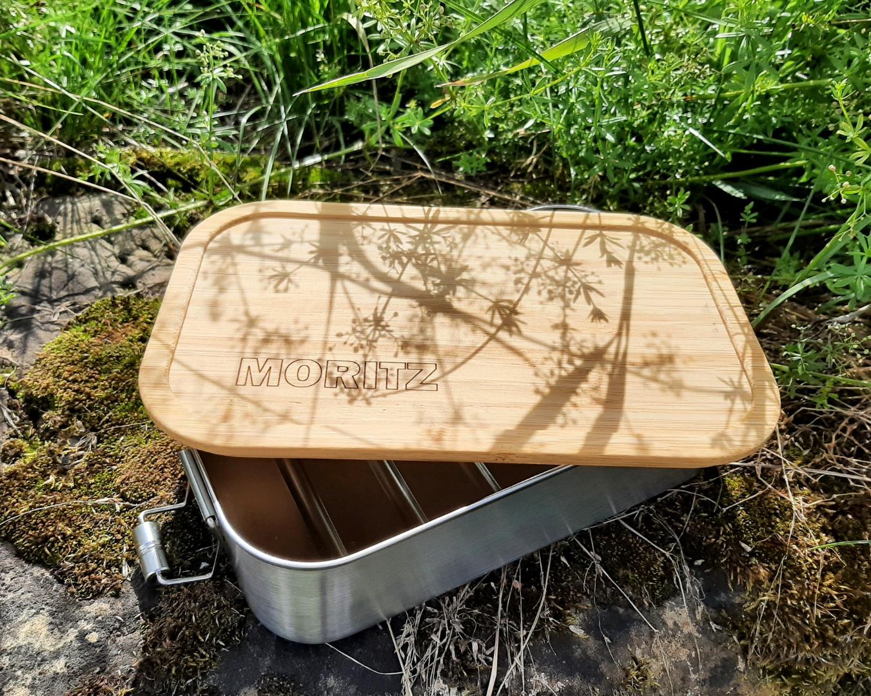 Bambus Lunchbox personalisiert minimalitisch 6