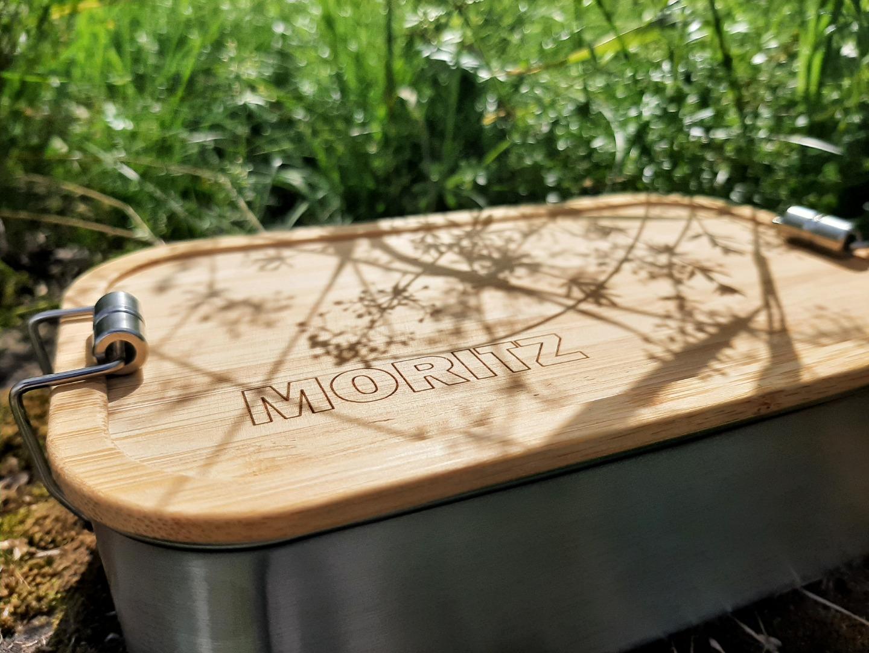 Bambus Lunchbox personalisiert minimalitisch 7