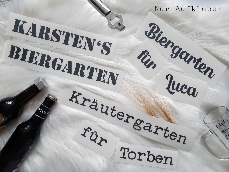 Biergarten / Kräutergarten mit Namen 3