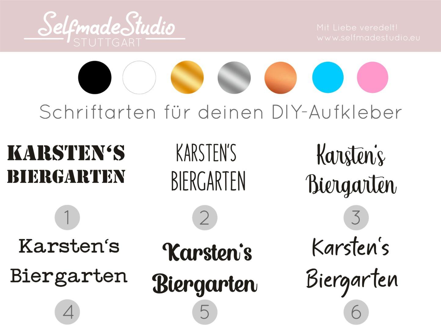 Biergarten / Kräutergarten mit Namen 2