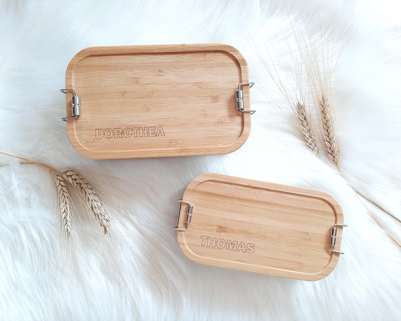 Bambus Lunchbox personalisiert minimalitisch 8