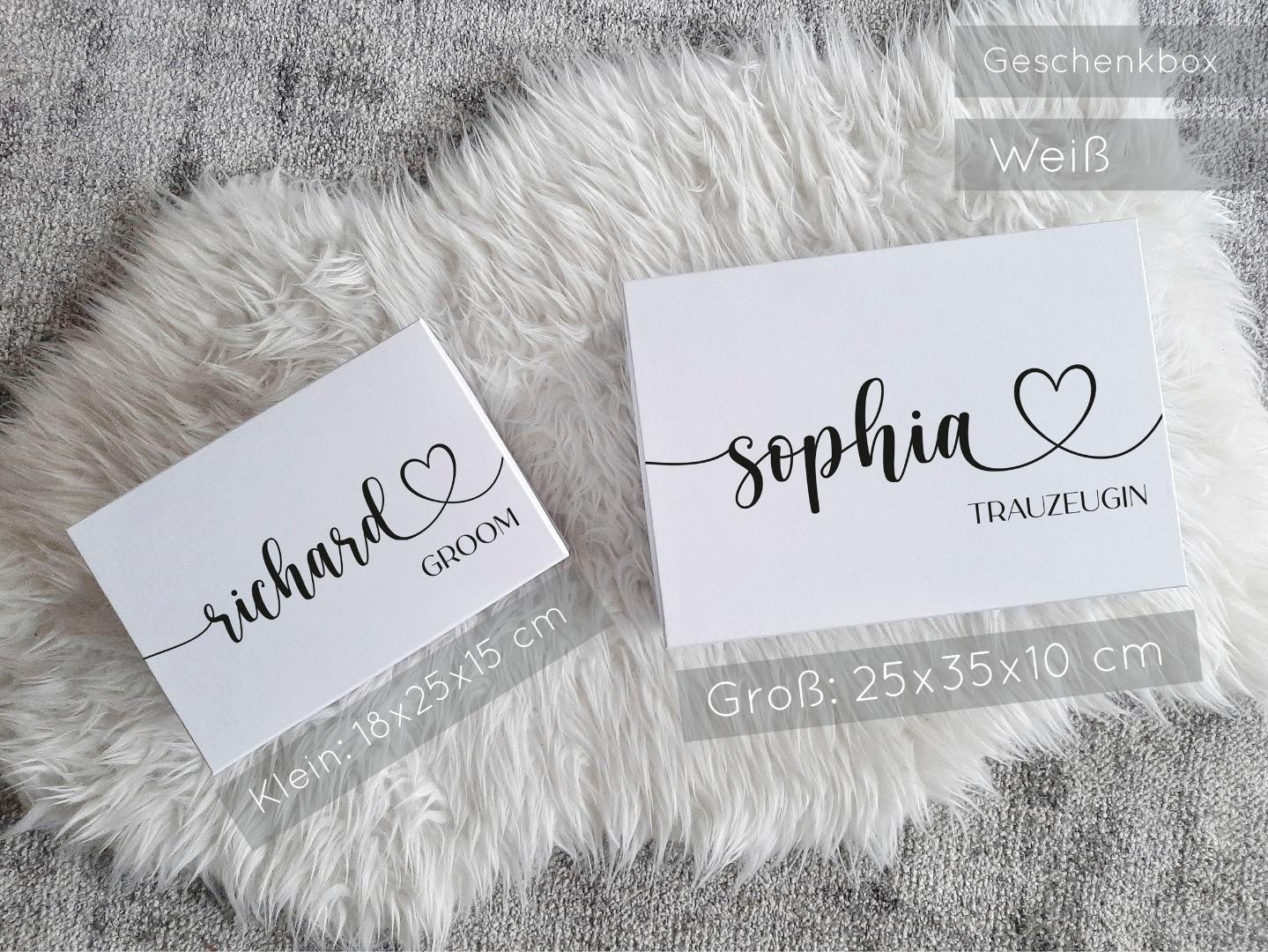 Geschenkbox mit Name und Titel 2