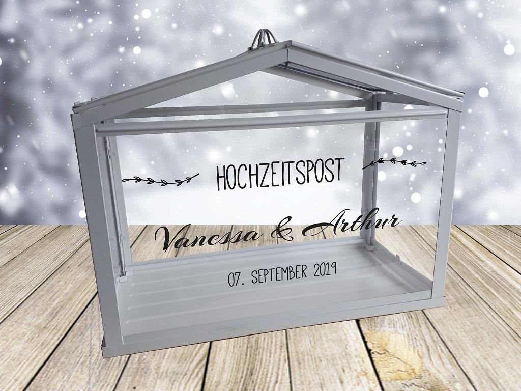Hochzeitspost Box Schriftzug nur Aufkleber