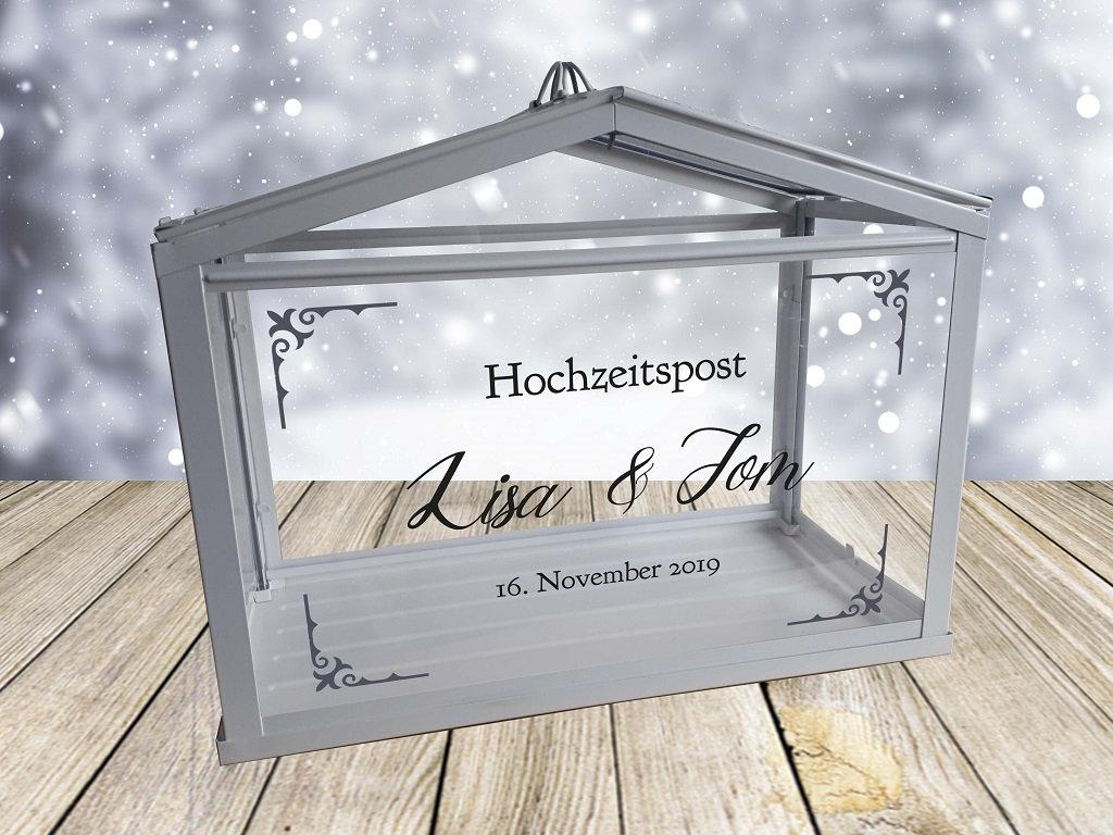 Hochzeitspost Box Schriftzug nur Aufkleber 7