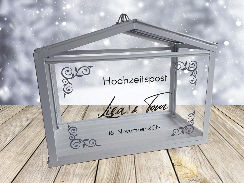 Hochzeitspost Box Schriftzug nur Aufkleber 8
