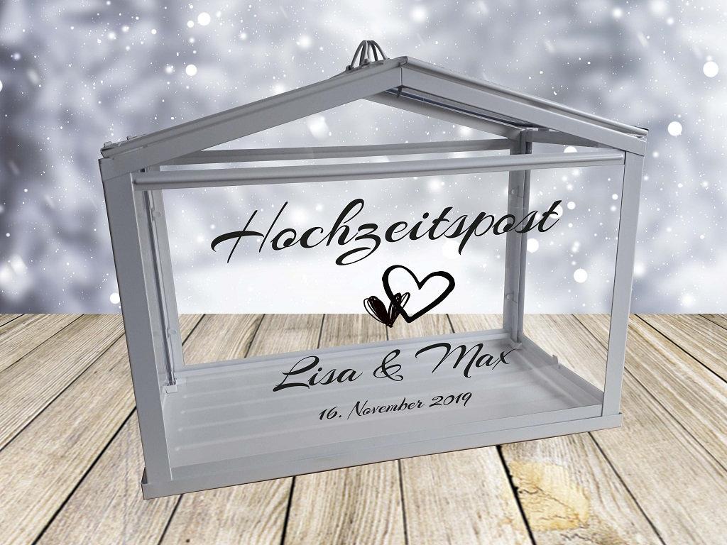 Hochzeitspost Box mit Personalisiertem Aufkleber 9