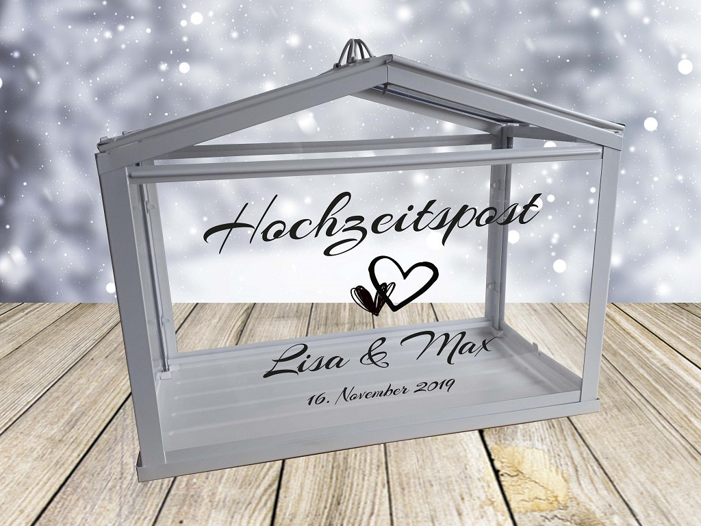 Hochzeitspost Box Schriftzug nur Aufkleber 9
