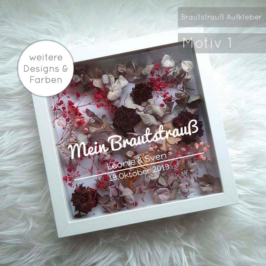 Mein Brautstrauß im Bilderrahmen Designs 1-8
