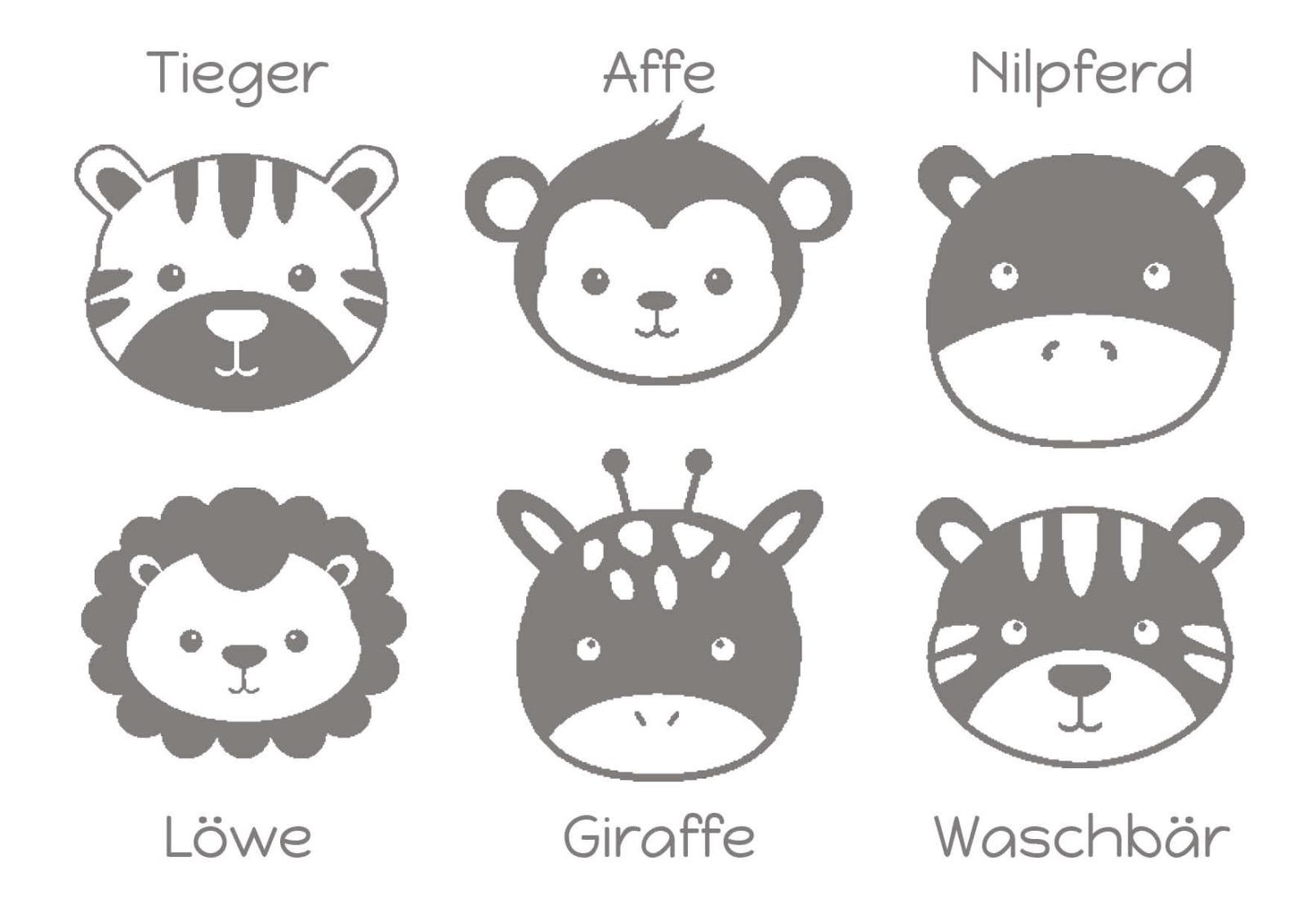 Personalisierte Lätzchen mit Namen Tier Motiv