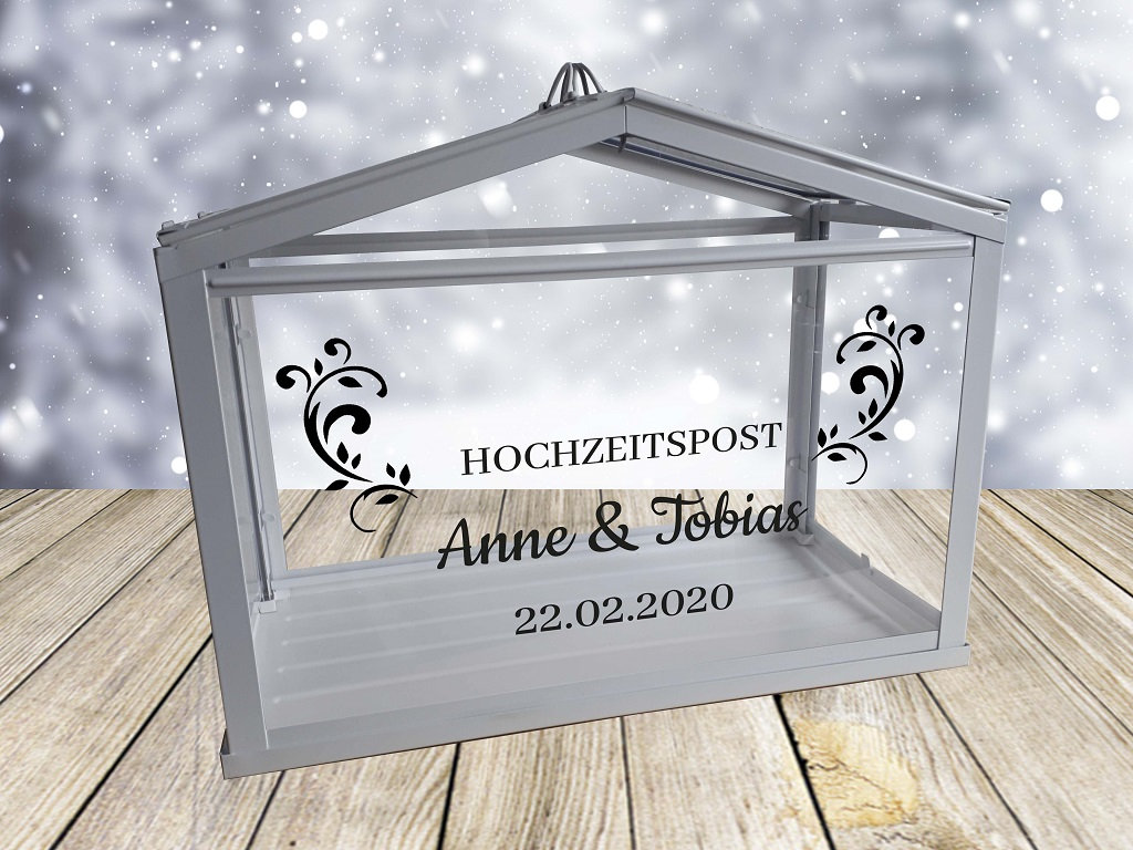 Hochzeitspost Box mit Personalisiertem Aufkleber 2