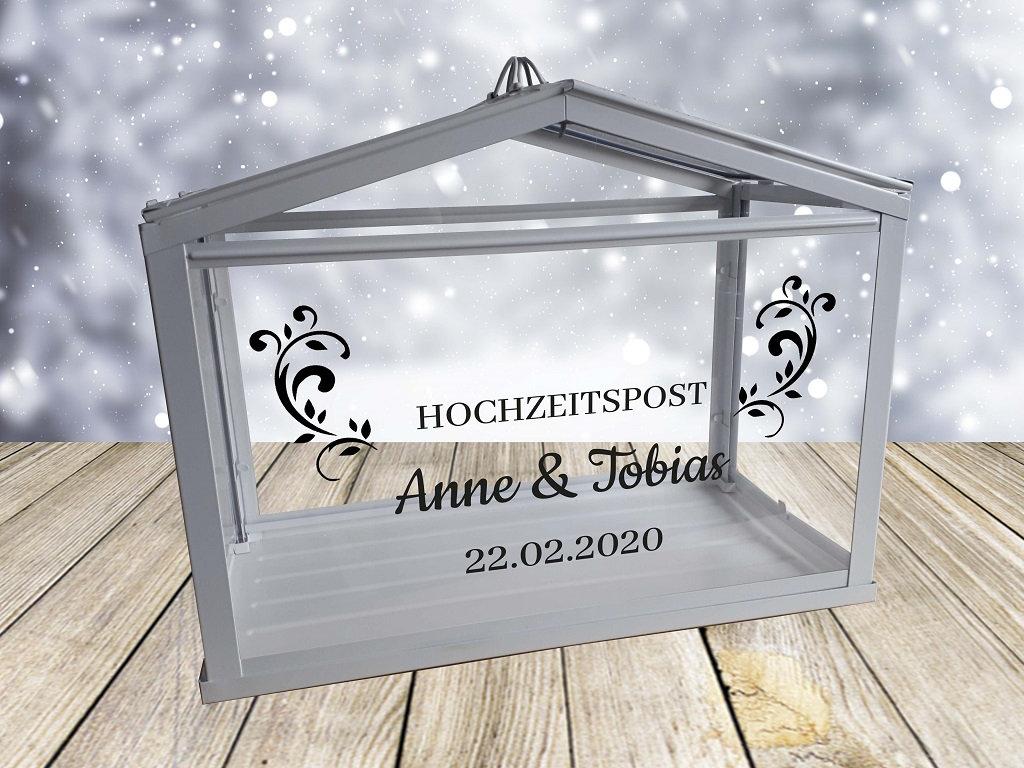 Hochzeitspost Box Schriftzug nur Aufkleber 2