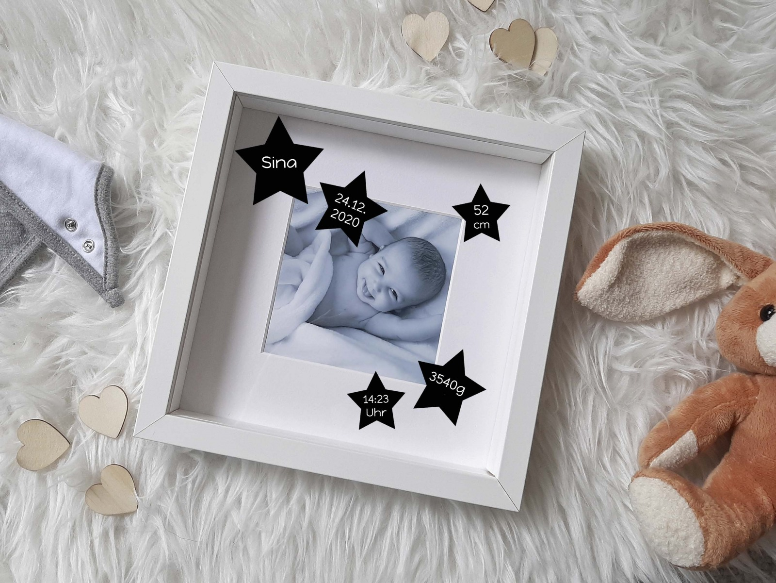 Baby Bilderrahmen mit Schriftzug 7