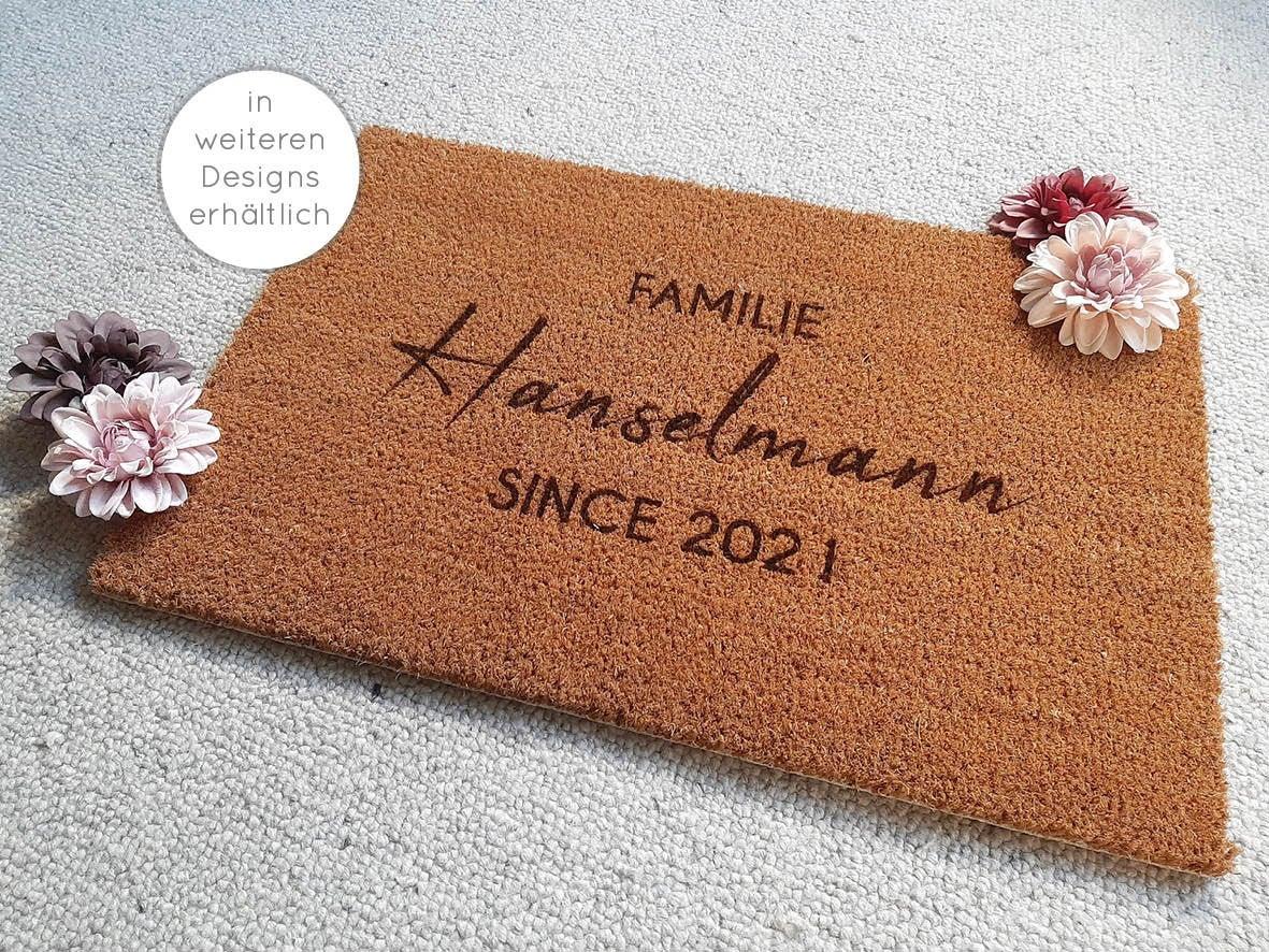 Fußmatten personalisiert aus Kokosfaser