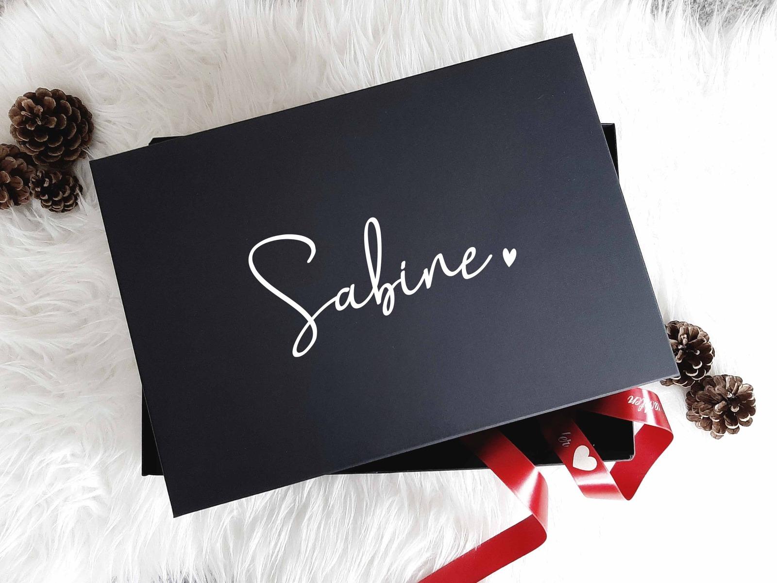 Geschenkbox mit Wunschnamen 4