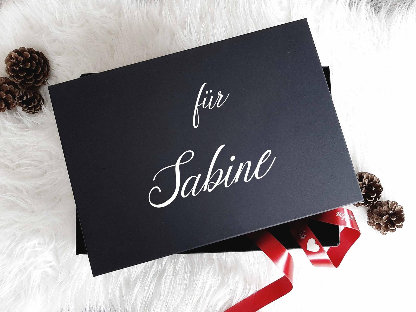 Geschenkbox mit Wunschnamen 8