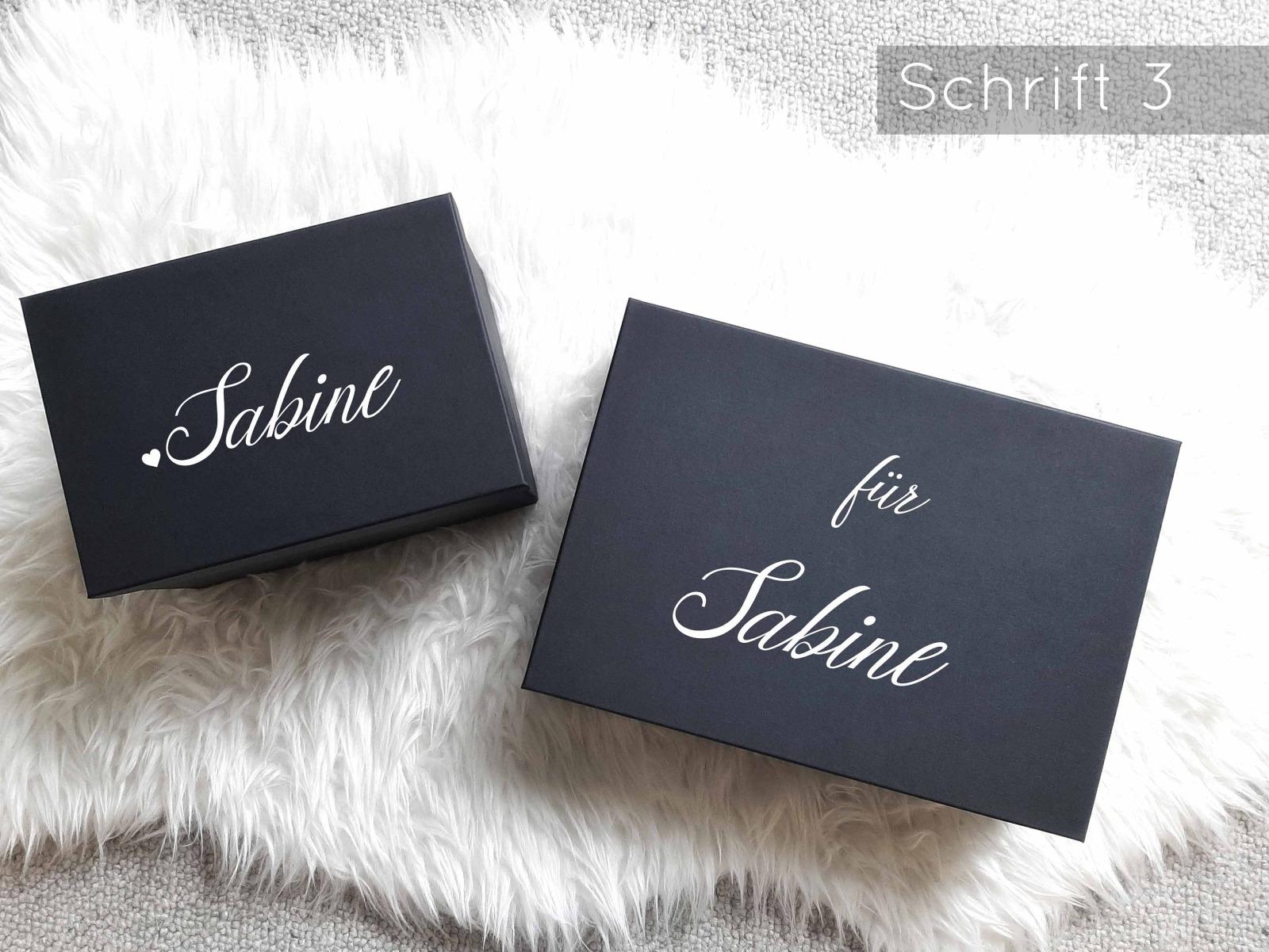 Geschenkbox mit Wunschnamen 9