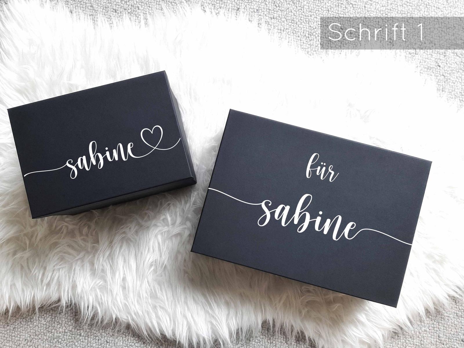 Geschenkbox mit Wunschnamen 3
