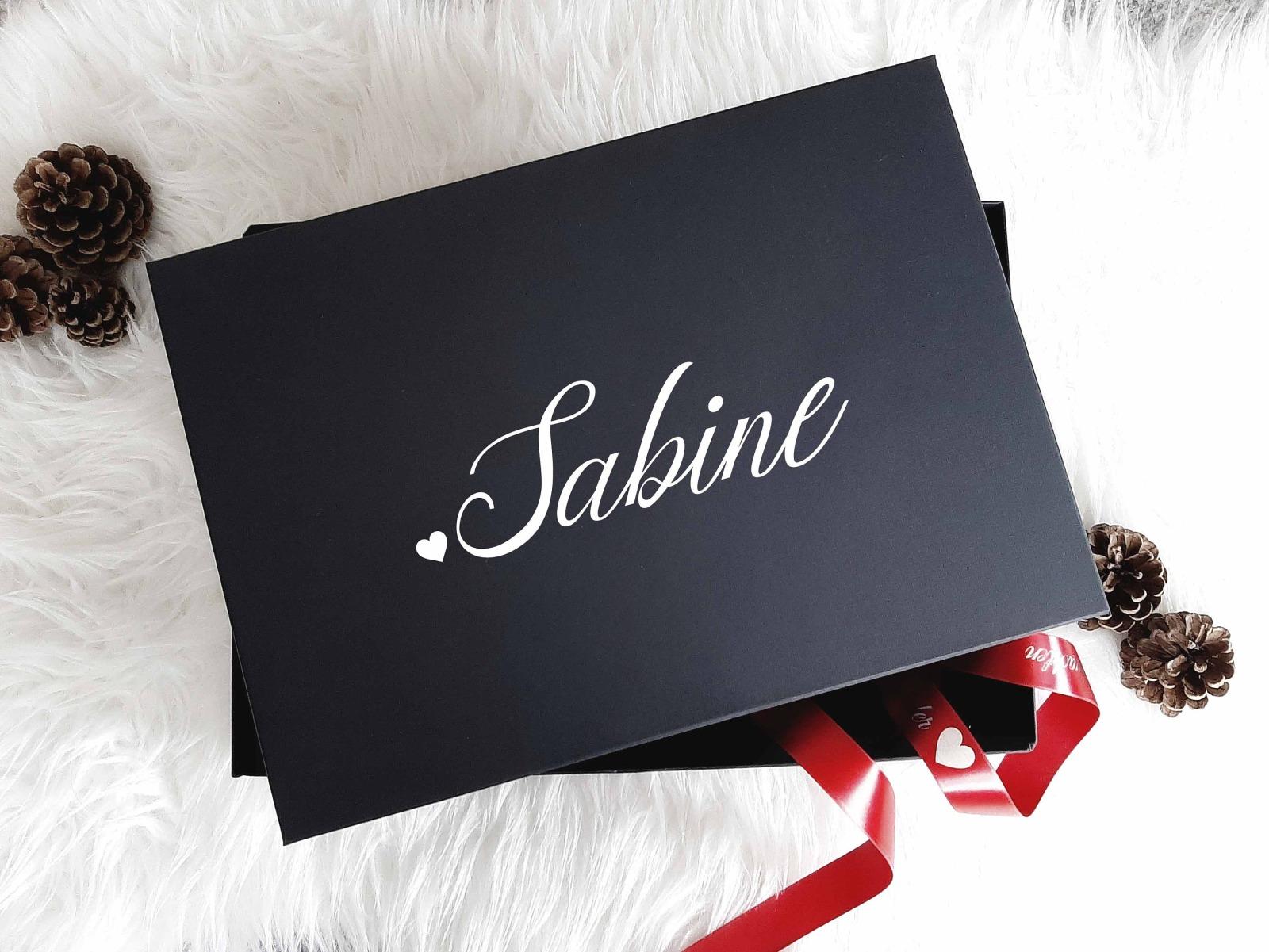 Geschenkbox mit Wunschnamen 7