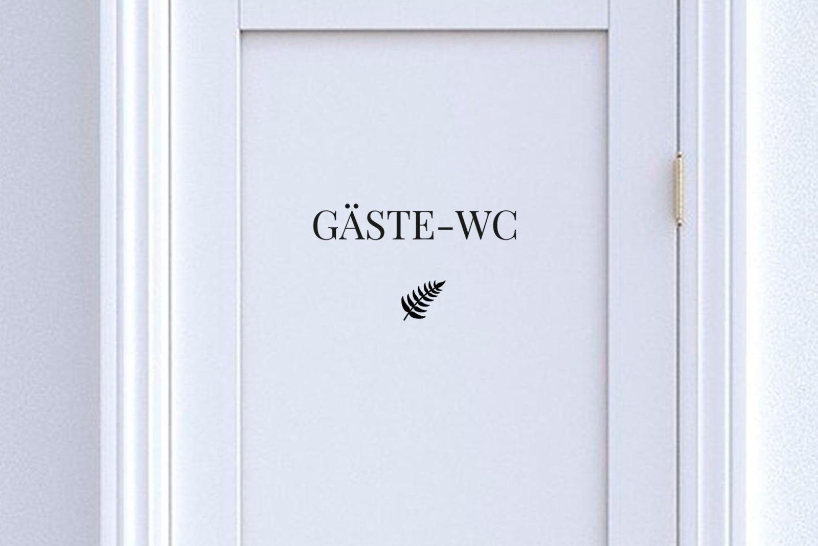 Türschild Gäste-WC mit Symbol 9