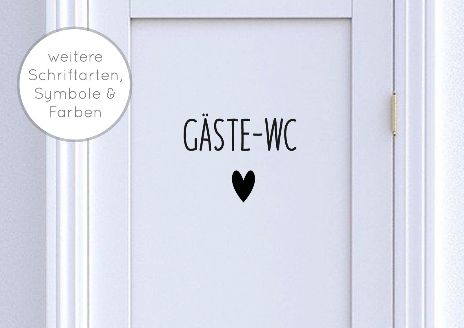 Türschild Gäste-WC mit Symbol