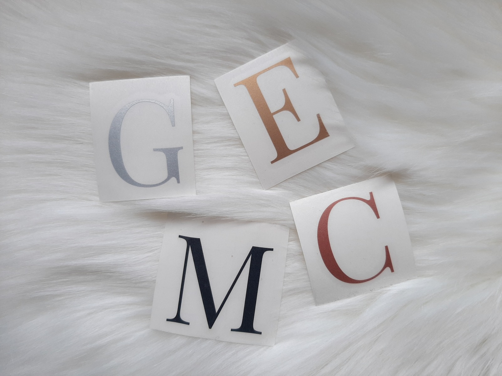 Buchstaben Sticker zu individuellen Verwendung