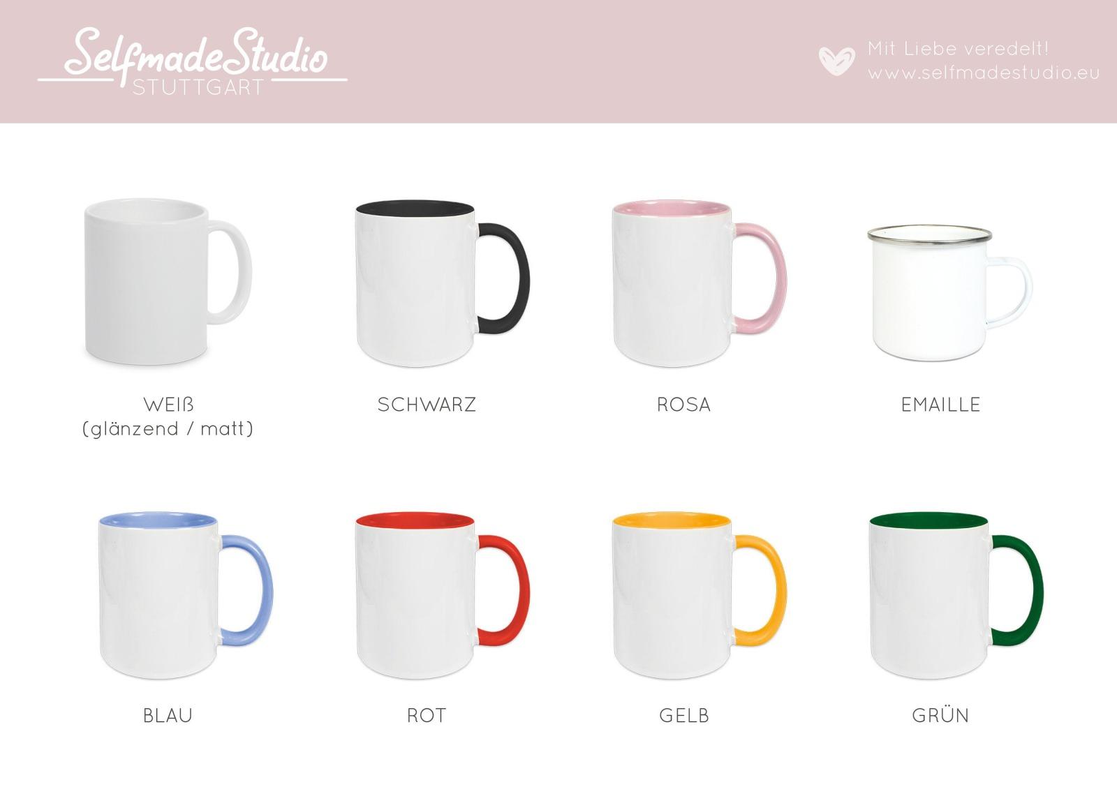 Buchstabentasse Kaffee-Tasse mit Pink-Flower Buchstabe 9