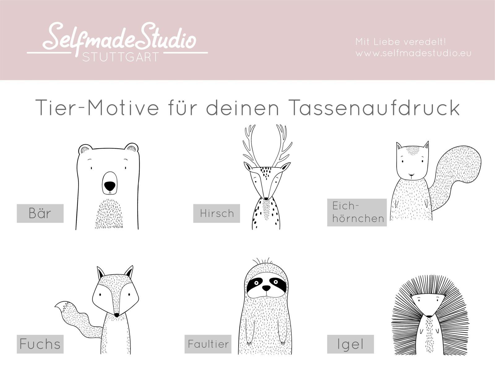 Tasse Skandi-Look personalisiert mit Wunschname 8