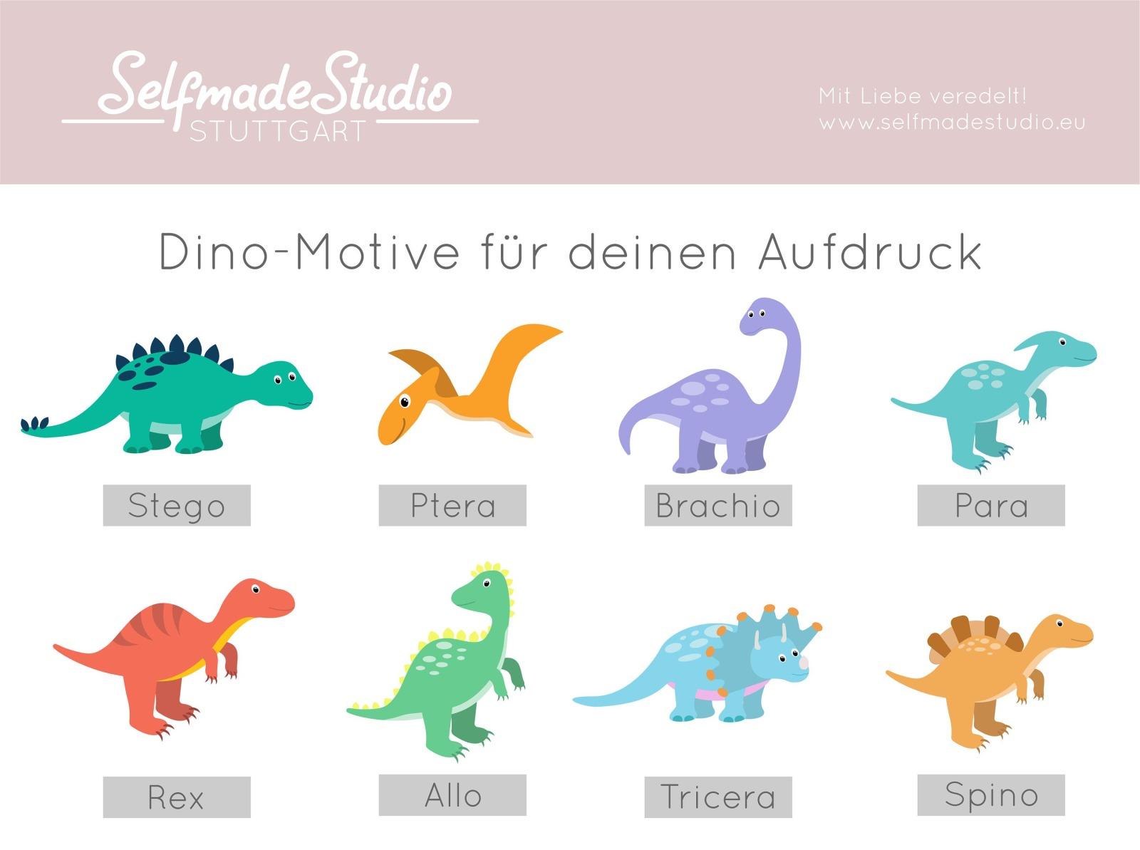 Kuscheltier Hase personalisiert mit Dino und