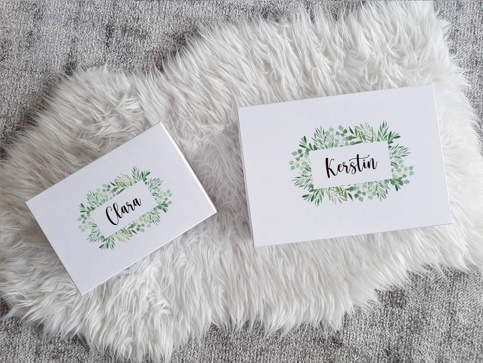 Geschenkbox mit Rosen-Look 4