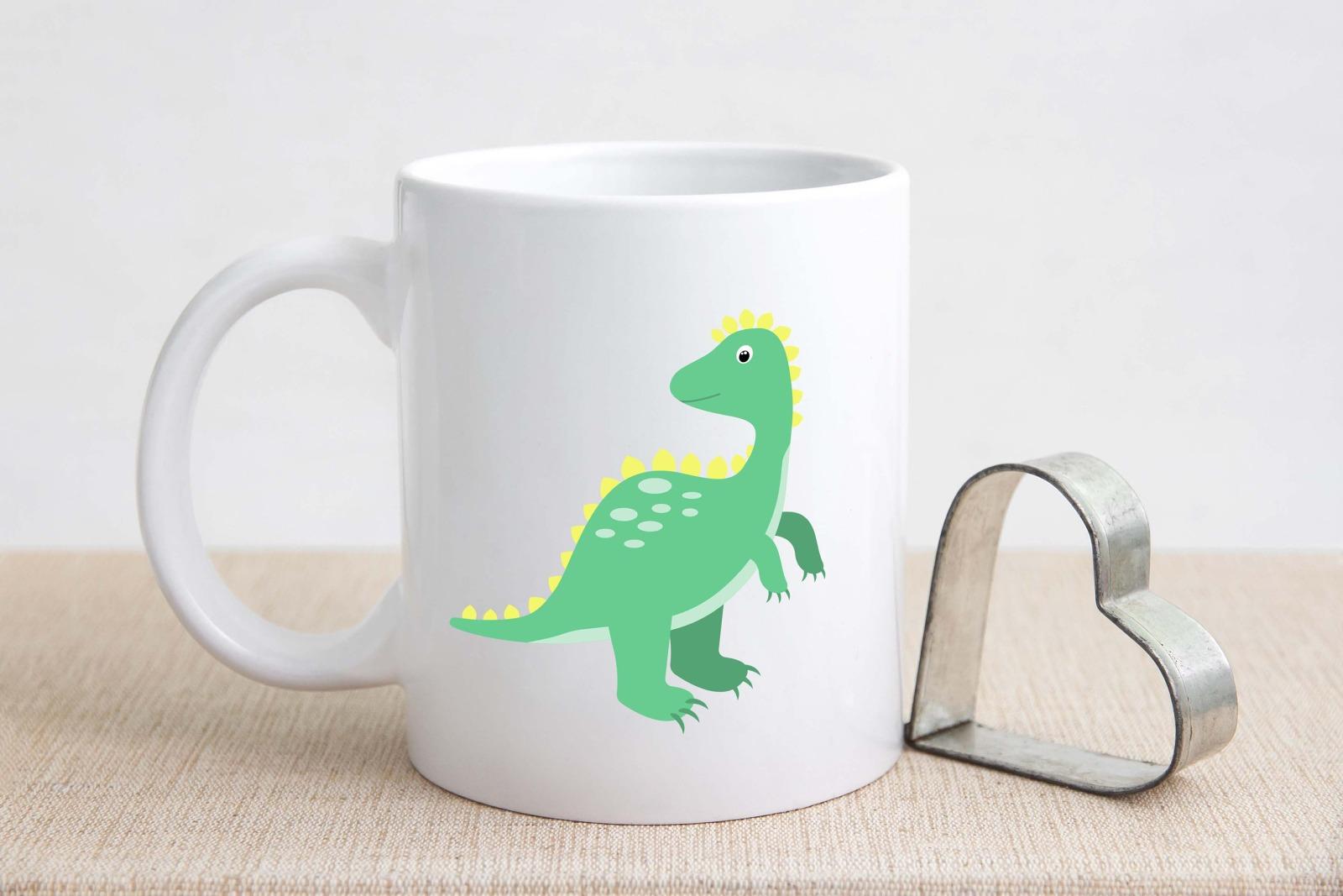 Tasse Dinosaurier-Look personalisiert mit Wunschname 2