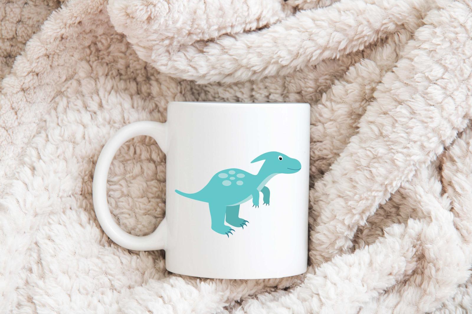 Tasse Dinosaurier-Look personalisiert mit Wunschname 5