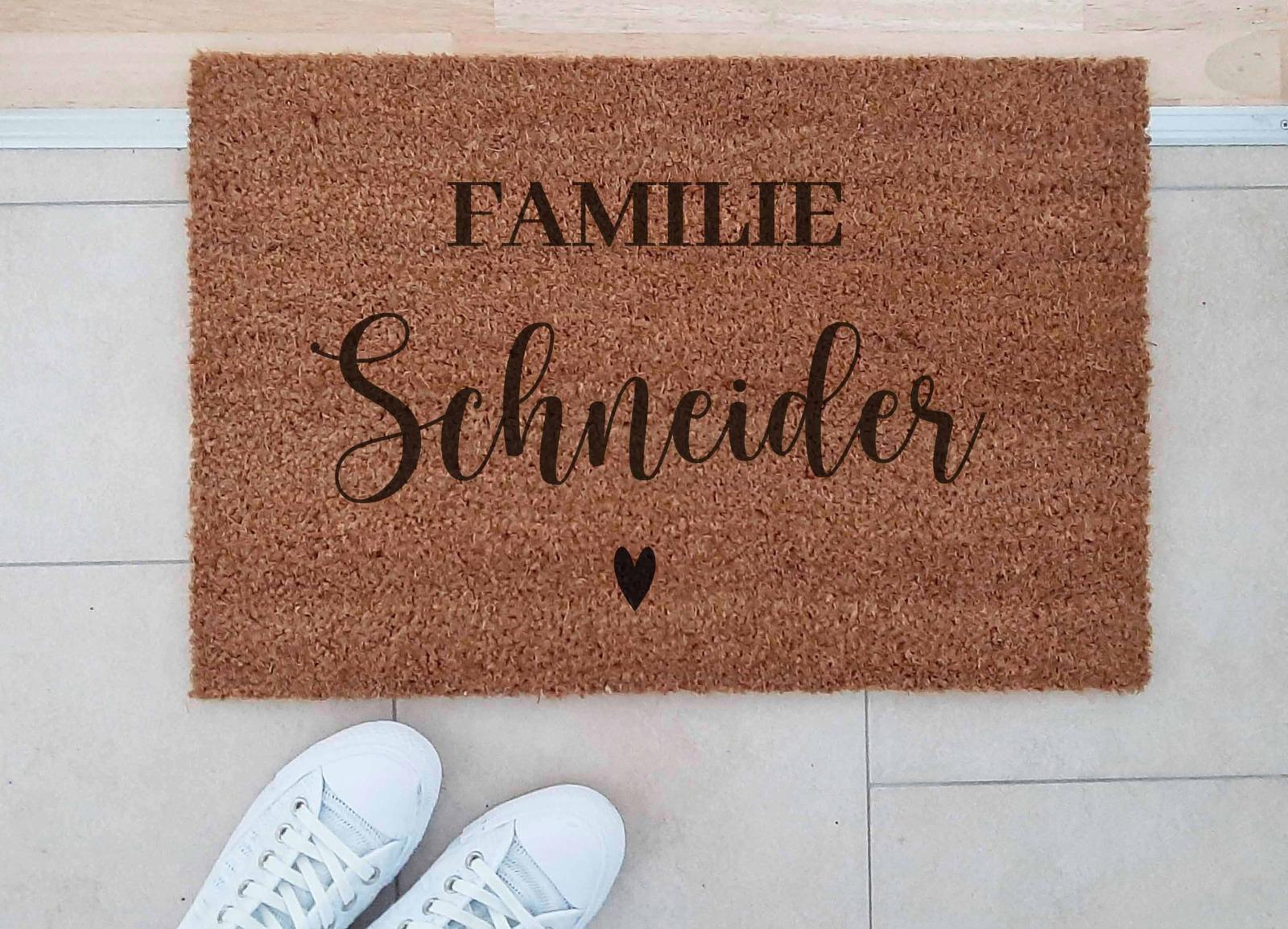 Fußmatten personalisiert aus Kokosfaser 2