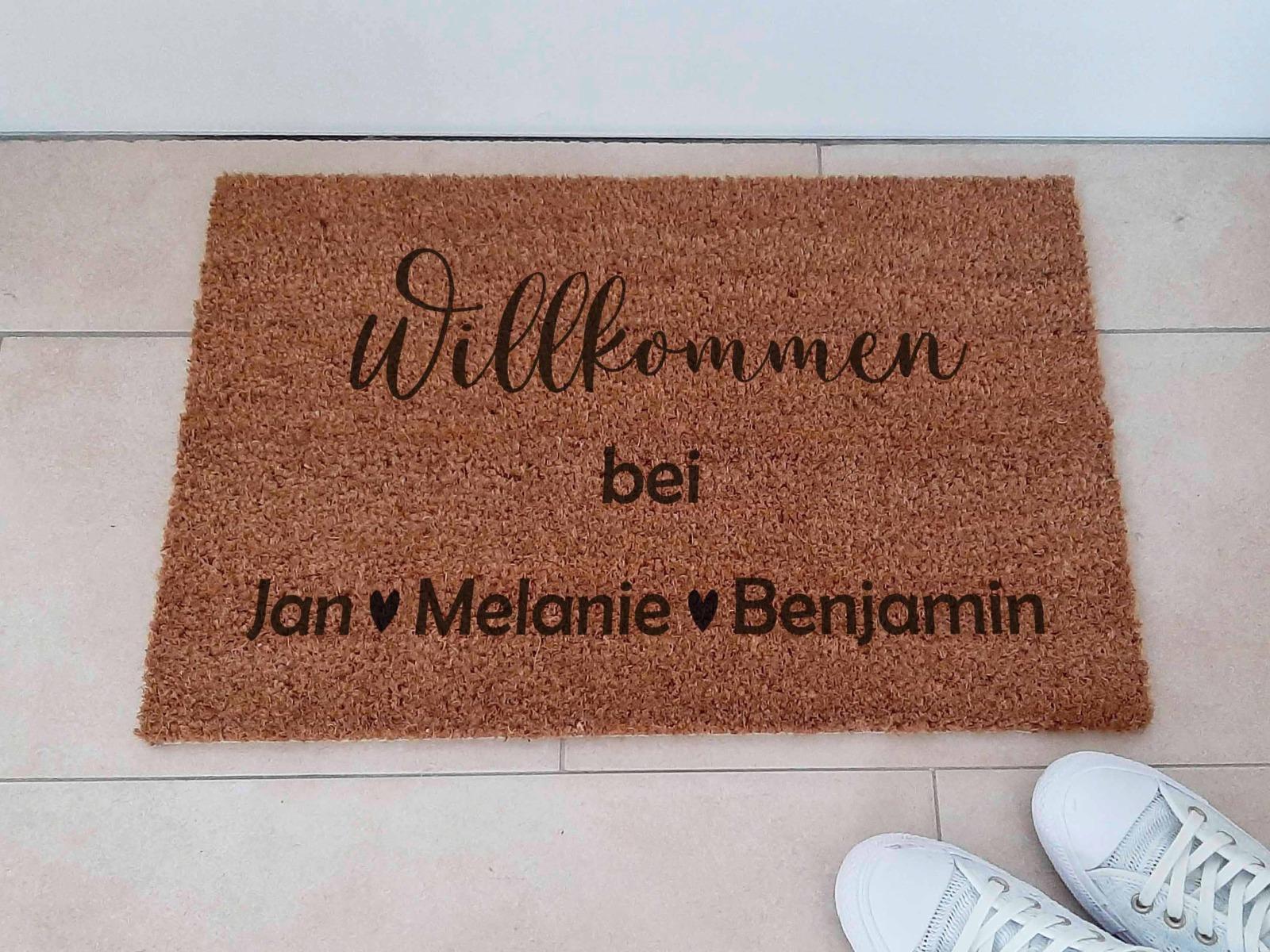 Fußmatten personalisiert aus Kokosfaser 5