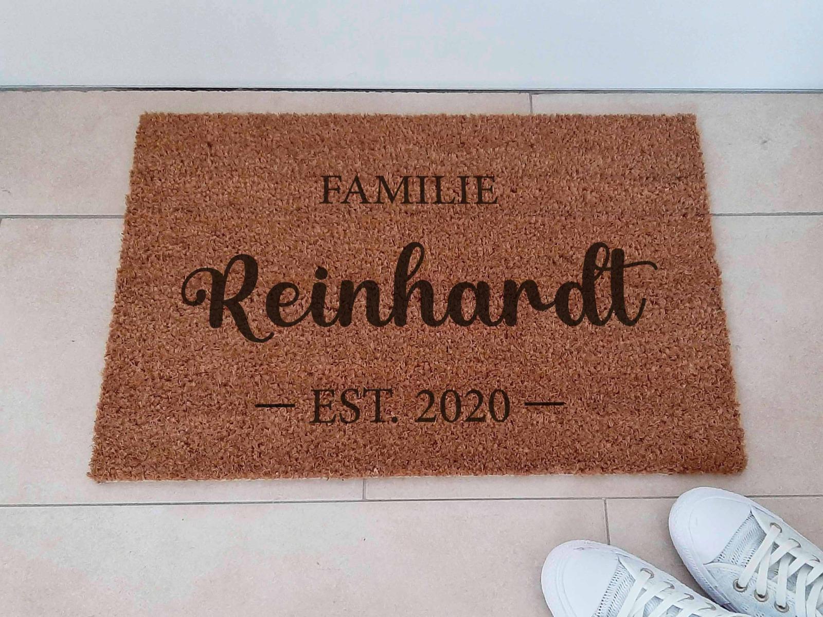 Fußmatten personalisiert aus Kokosfaser 7
