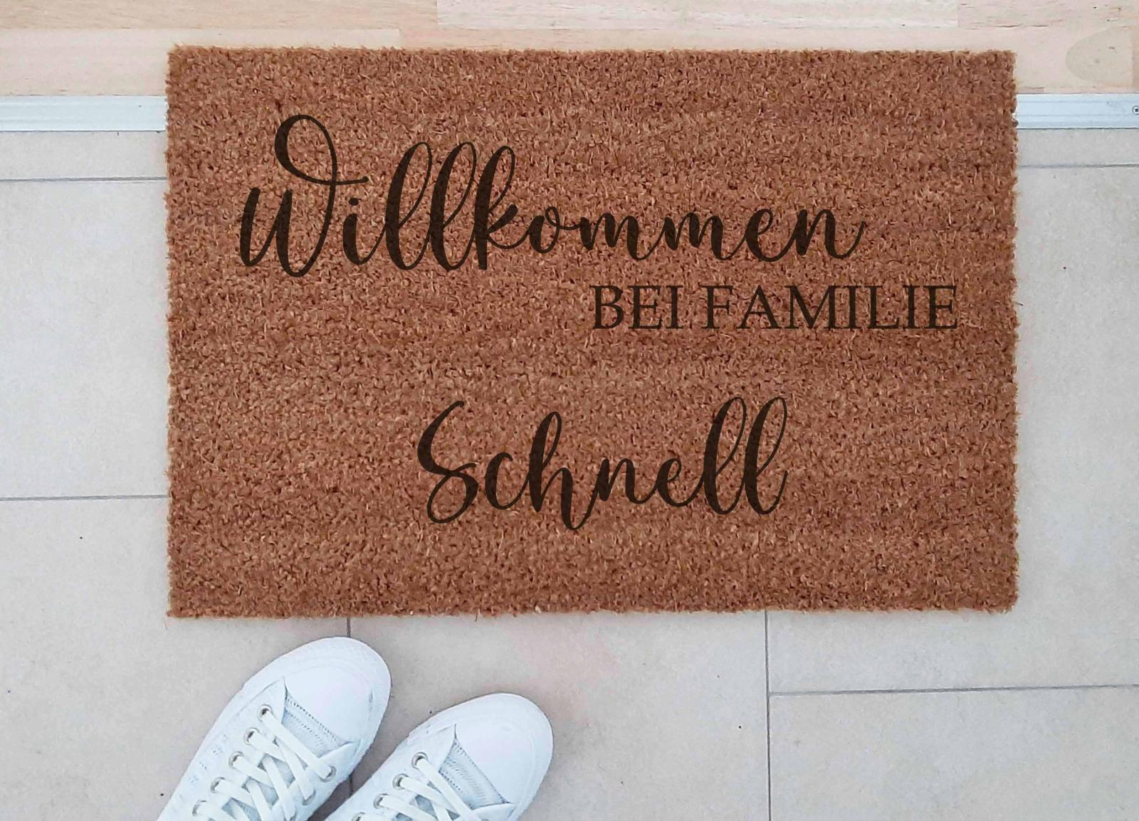 Fußmatten personalisiert aus Kokosfaser 4