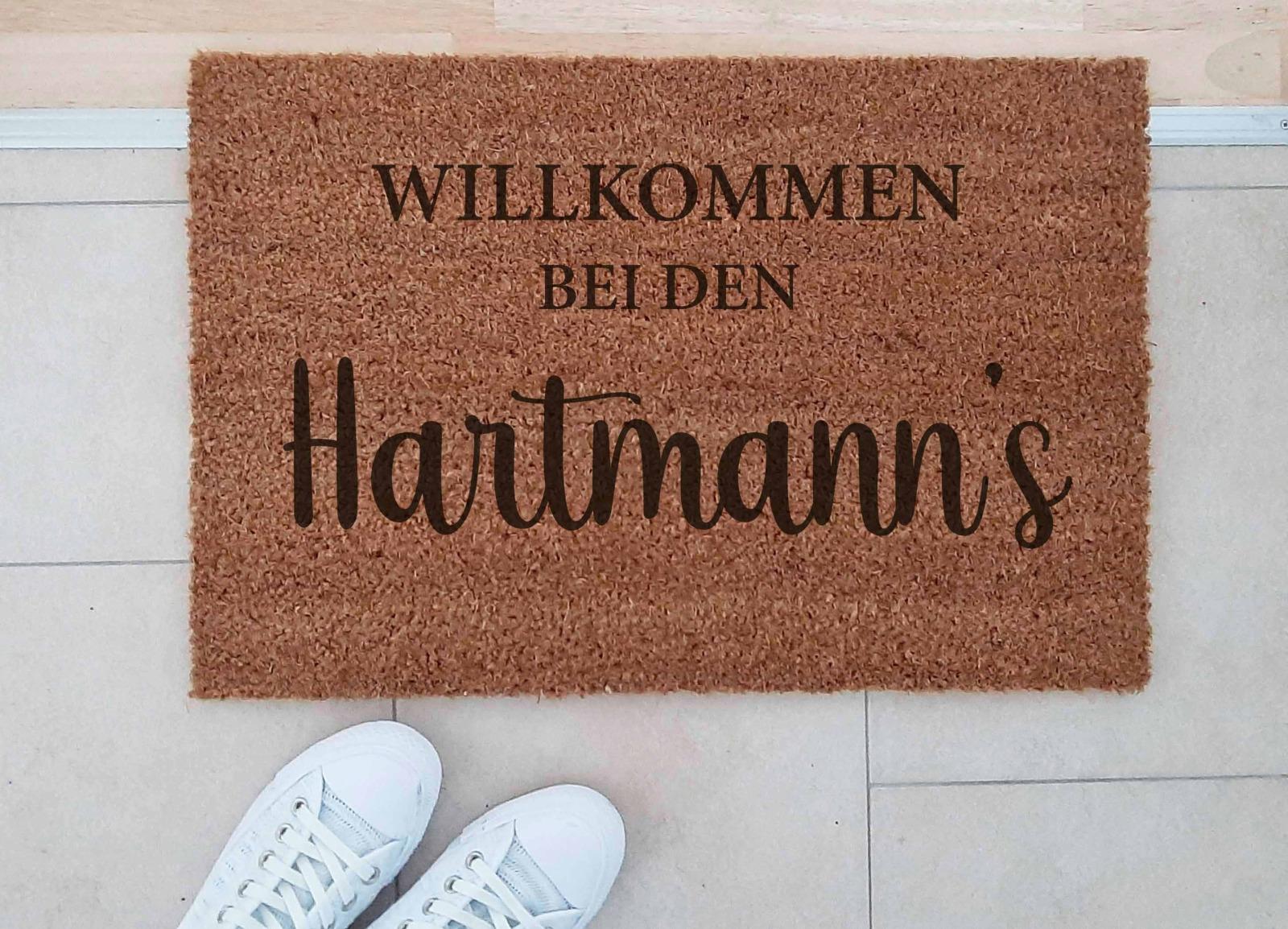 Fußmatten personalisiert aus Kokosfaser 8