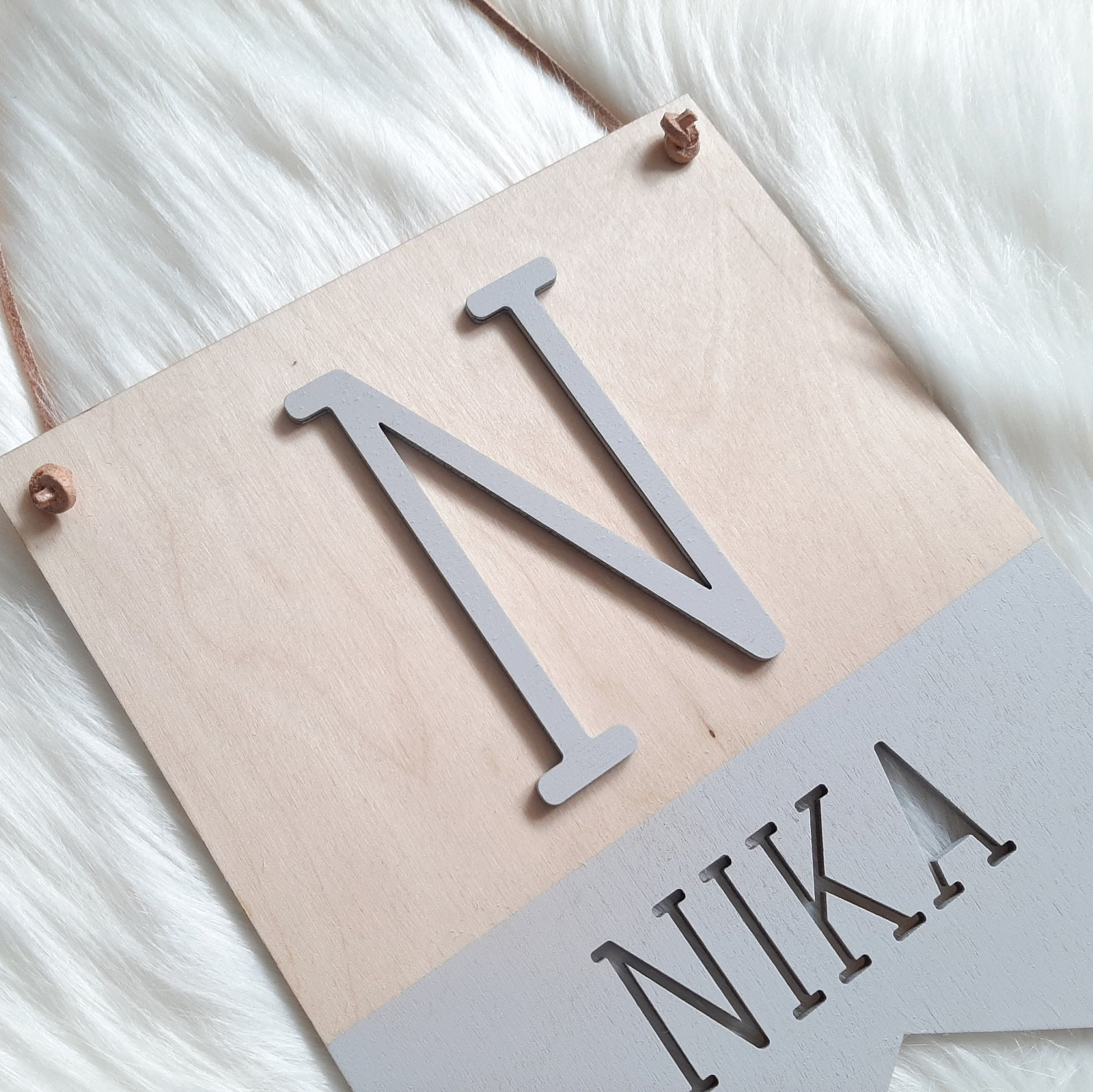 Wimpel Namensschild mit Initialen 3