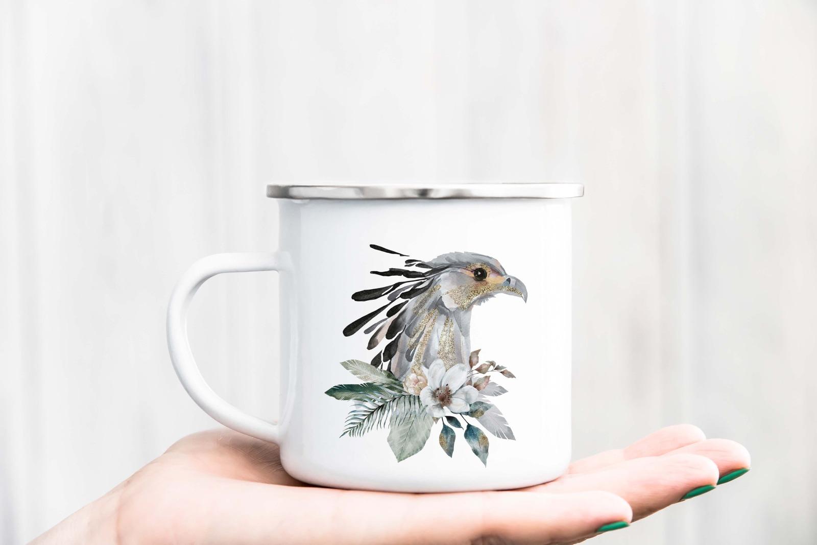 Tasse Aquarell-Tiere personalisiert mit Wunschname 9