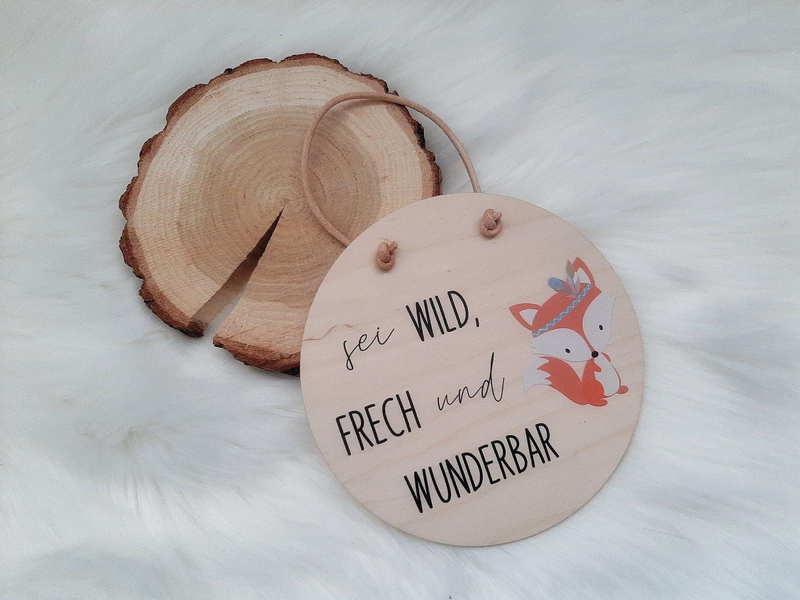 Holzschild mit Spruch und Tier 6