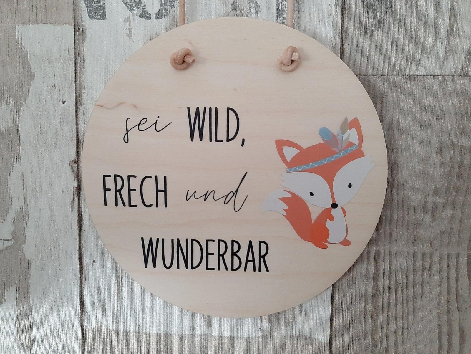 Holzschild mit Spruch und Tier 8