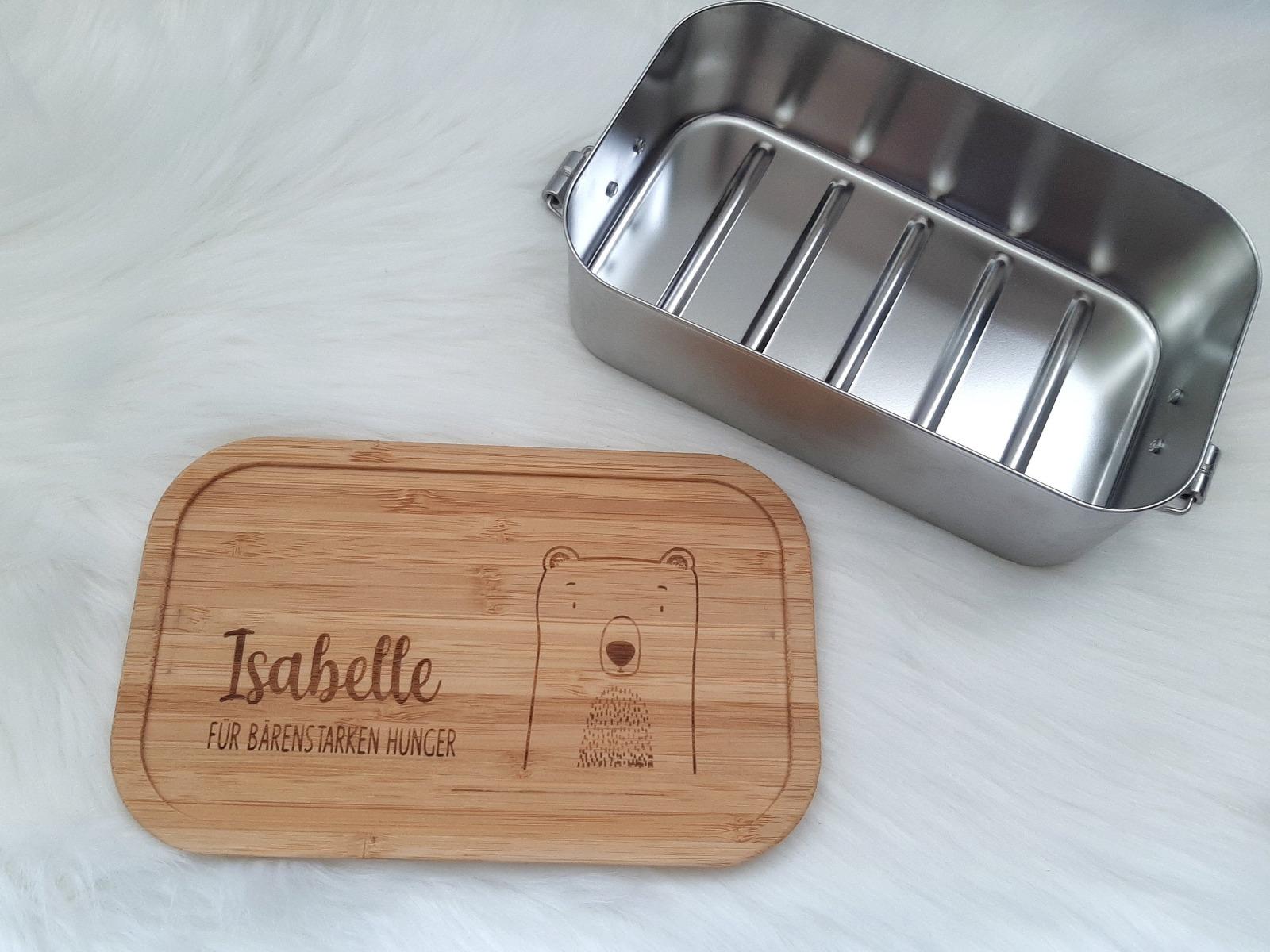 Bambus Lunchbox personalisiert 2