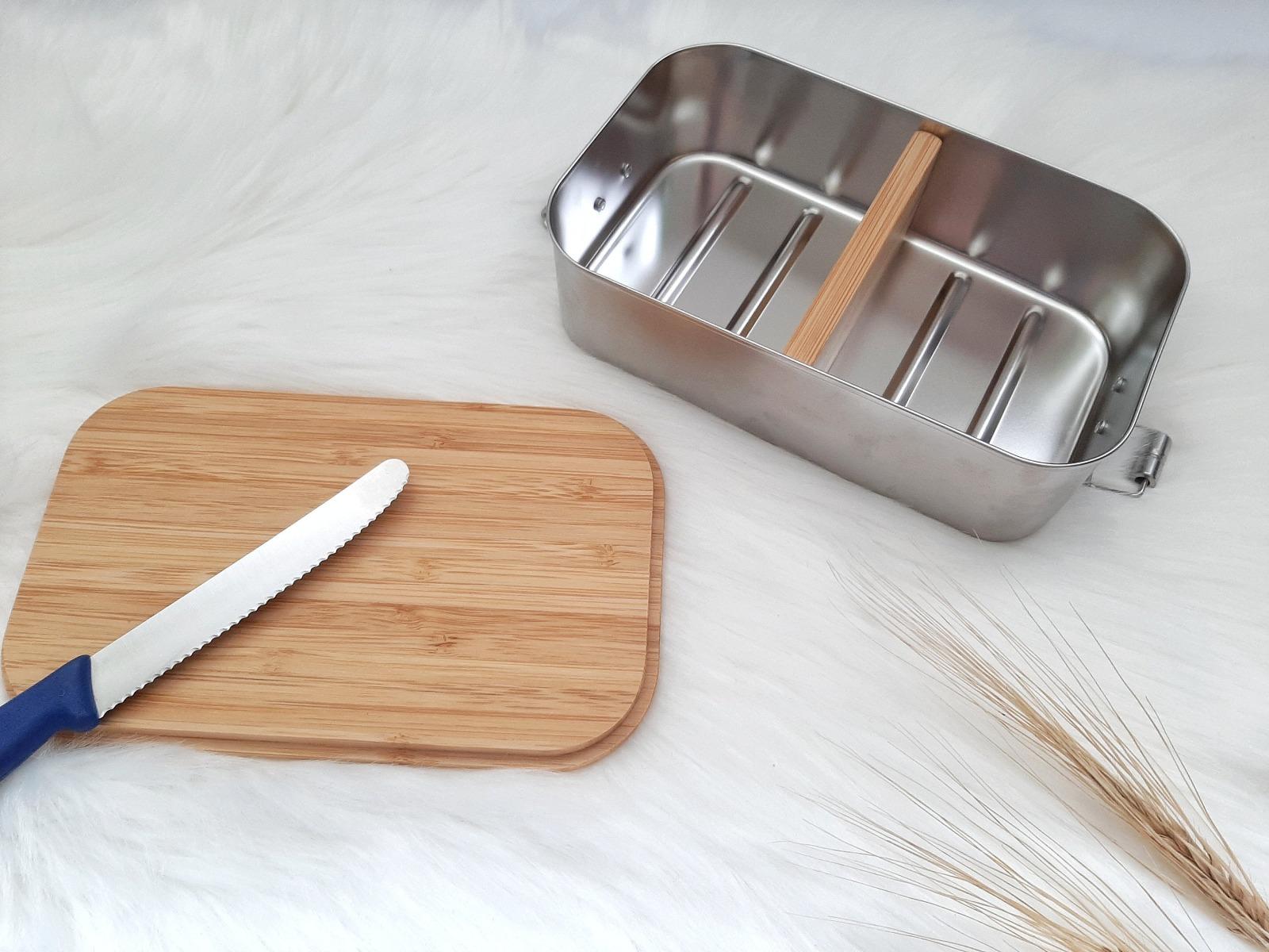Bambus Lunchbox personalisiert minimalitisch