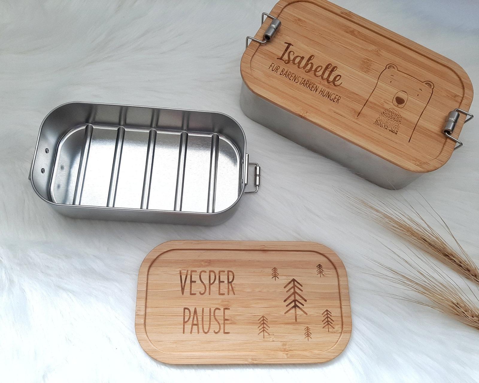 Bambus Lunchbox personalisiert 8